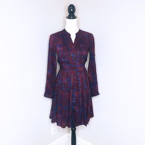 {Anthro} 11-1-TYHLO Button Down Pleated Dress